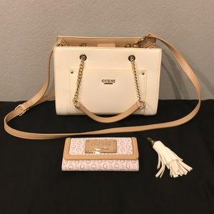 Guess Purse, Wallet, and Keychain Set